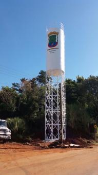 Prefeitura instala nova caixa da água na saída para Ponte Branca