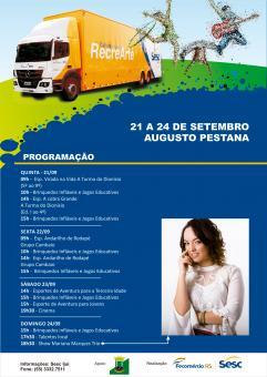 Carreta Cultural do Sesc trás show com Mariana Marques para Augusto Pestana