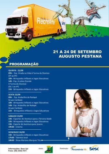 Augusto Pestana terá 11 dias de Festejos Farroupilha