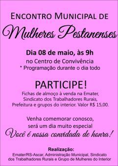 Fichas para o Encontro de Mulheres Pestanenses já estão à venda