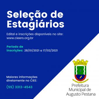 Prefeitura divulga inscrições para seleção de estagiários