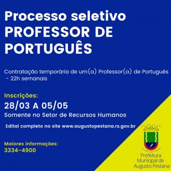 Processo Seletivo Professor de Português