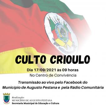 Prefeitura realiza Culto Crioulo